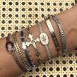 Mya Bay - Bijoux - Bracelet Barcelona Croix Or - Photo