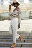Mes Demoiselles Paris - Pantalon - Feminalia Ecru - Photo