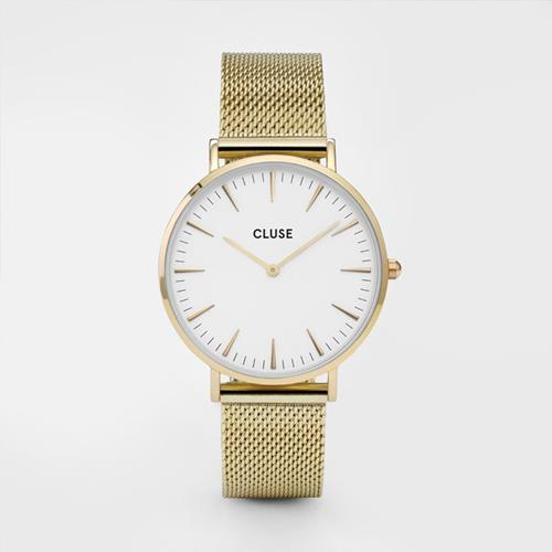 Cluse - Montre Boheme - CL18109 Mesh Gold White - Photo 1