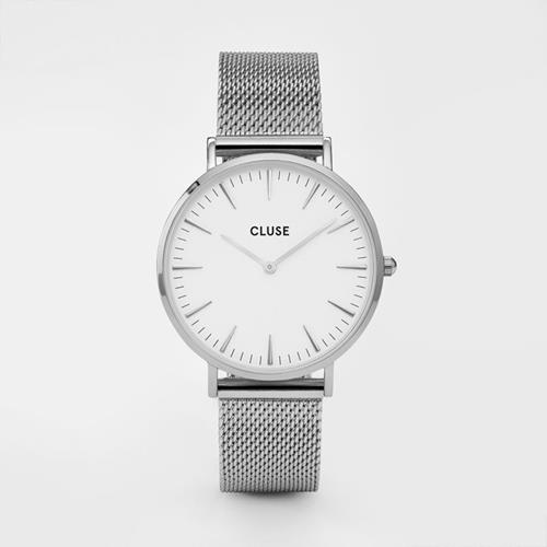 Cluse - Montre Boheme - CL181105 Mesh Silver White - Photo 1