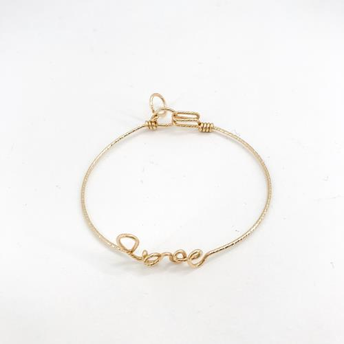 By H - Bracelet - Love Goldfilled Or Jaune Scintillant - Photo 1