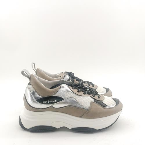 Ama Brand - Sneakers - A1028 Taupe Blanc - Photo 1