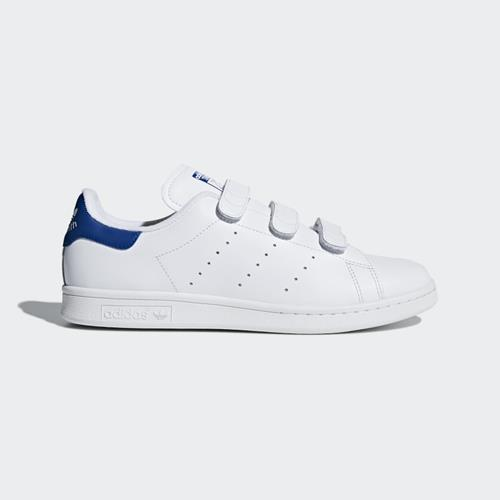Adidas - Baskets - Stan Smith S80042 White Blue - Photo 1