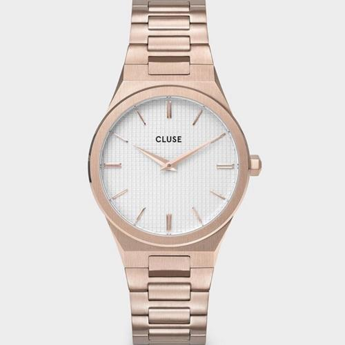 Cluse - Montre -  Vigoureux 33 CW10001 Link Rose Gold Snow White - Photo 1