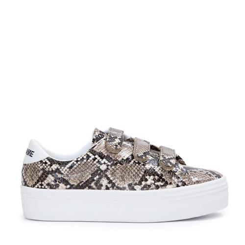 No Name - Sneakers - Plato Straps Print Anaconda Naturel - Photo 1