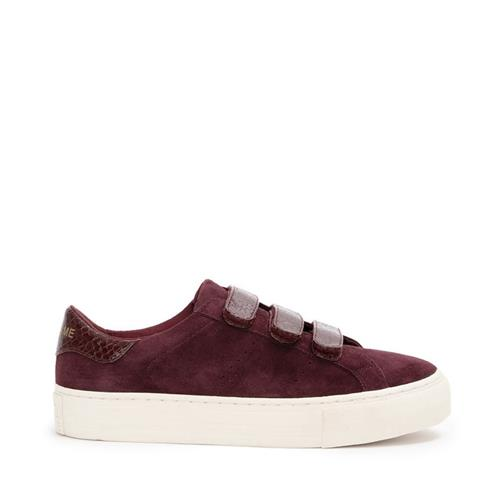 No name - Sneakers - Arcade Straps Goat Suede Burgundy - Photo 1