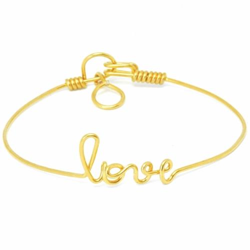 By H - Bracelet - Love Goldfilled Or Jaune - Photo 1
