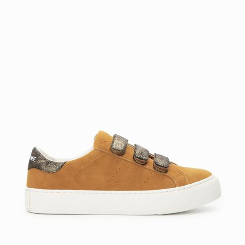 No Name - Sneakers - Arcade Straps Goat Suede Safran - Photo 1