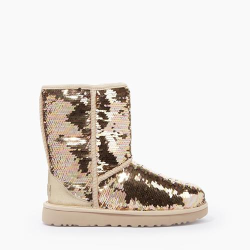 UGG Australia - Snowboots - Classic Short Sequins Gold - Photo 1