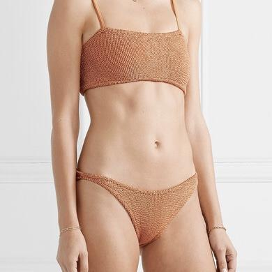 Hunza G - Maillot - Gigi Bikini Copper Metallic - Photo 1