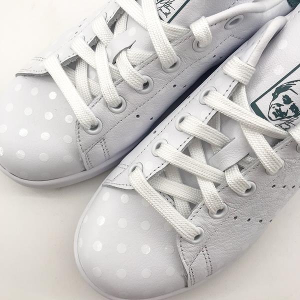 Adidas - Baskets - Stan Smith B41624 Blanc/Vert - Photo